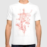 Abstract Lines, Linear P… Mens Fitted Tee White SMALL