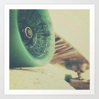 Skate Or Die    Curb Sto… Art Print