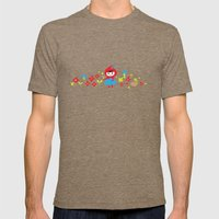 Red Riding Hood in the Forest Mens Fitted Tee Tri-Coffee SMALL