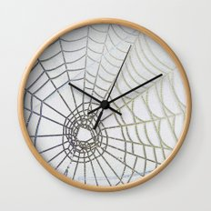 Dew Drop Spider Web Wall Clock
