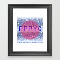 3D π Framed Art Print