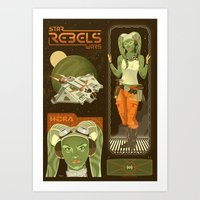 Rebel 3: Hera Syndulla Art Print