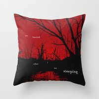 I Am Haunted When I Am S… Throw Pillow