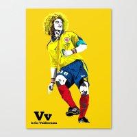 V is for Valderrama Canvas Print