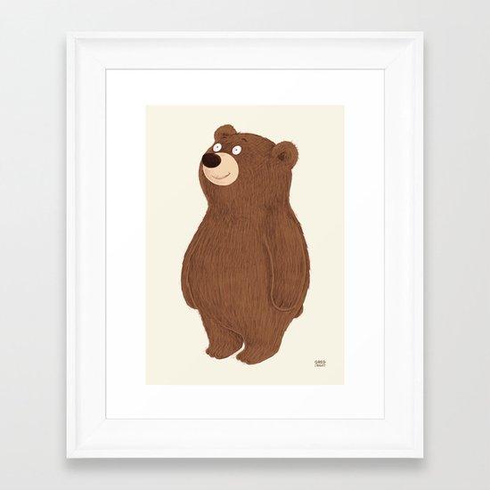 Simple Bear Framed Art Print