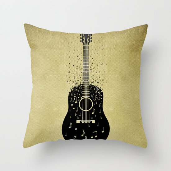 Musical ascension Throw Pillow