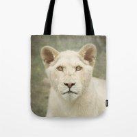 White Lion Cub Tote Bag