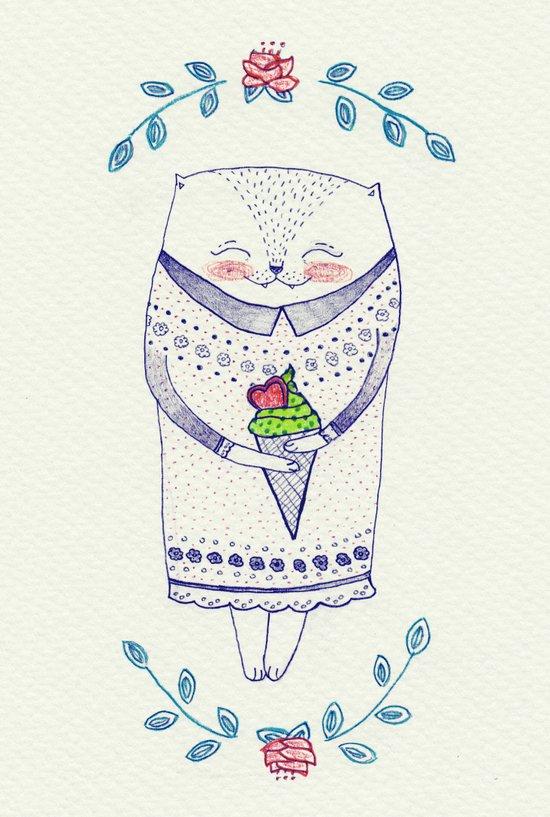 icy cat Canvas Print