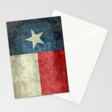 Texas flag - Retro 1 Vertical Banner Stationery Cards