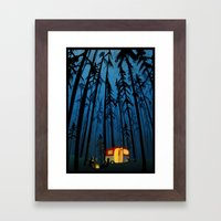 twilight camping Framed Art Print