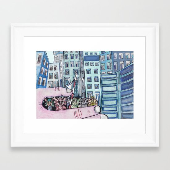 Curious Creatures 1  Framed Art Print