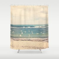 Swan Sea Shower Curtain