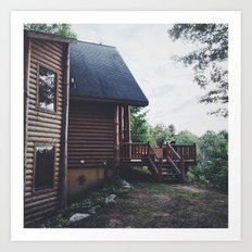Log Cabin Art Print