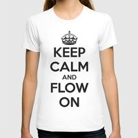 Keep Calm  Womens Fitted Tee White SMALL