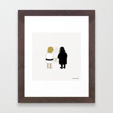 Saber Fight Framed Art Print