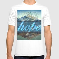 HOPE (1 Corinthians 13:13) White Mens Fitted Tee SMALL