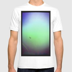 Seagull & Rainbow SMALL White Mens Fitted Tee