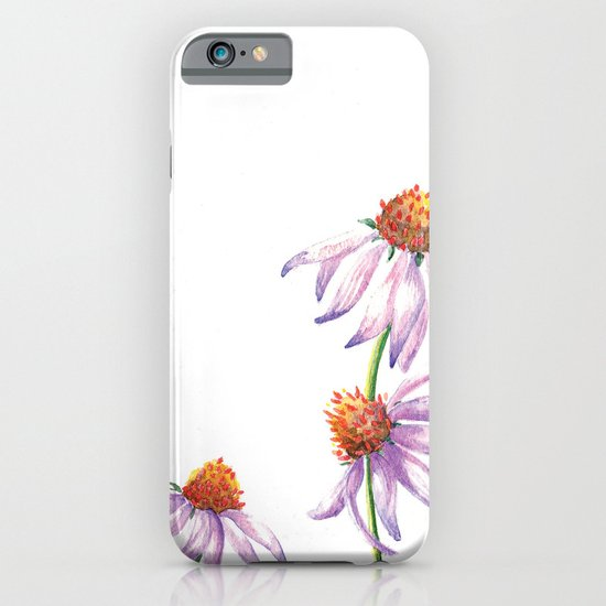 Watercolor Purple Cone Flower iPhone & iPod Case