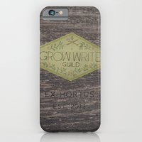 iPhone & iPod Case featuring Grow Write Guild Seal by fluffco