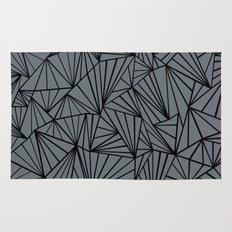 Ab Fan Grey and Black Rug