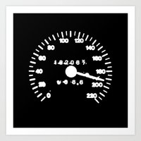 Speed Black Art Print