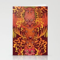 Burning Totem Stationery Cards