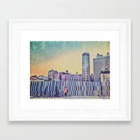 Brooklyn stripes Framed Art Print