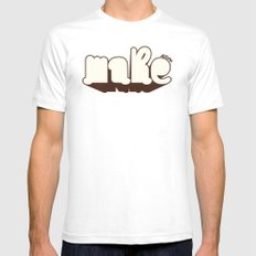 Make White SMALL Mens Fitted Tee