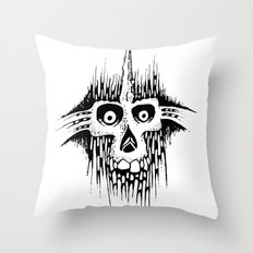 Skully Line Throw Pillow