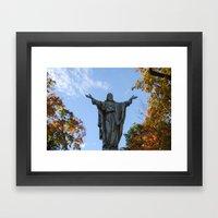 God Quad Framed Art Print