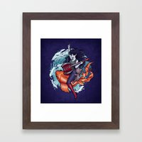 Daddy's Little Monster Framed Art Print