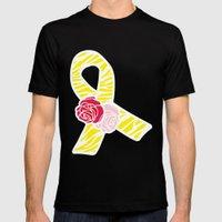 Endometriosis Awareness Ribbon Mens Fitted Tee Black SMALL