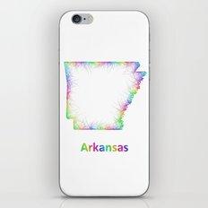 Rainbow Arkansas map iPhone & iPod Skin