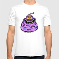 Wormy Mens Fitted Tee White SMALL