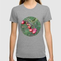 Crabapples Into The Wild Womens Fitted Tee Tri-Grey SMALL