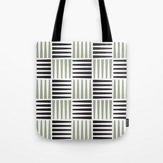 B/W crosshatch pattern Tote Bag