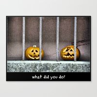 What did you do? Canvas Print