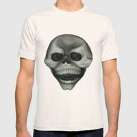 Skully Mens Fitted Tee Natural SMALL