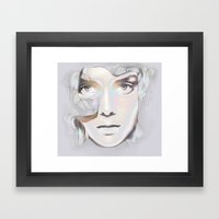 HER BREATH ON GLASS Framed Art Print