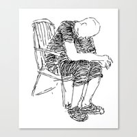 The Sitter Canvas Print