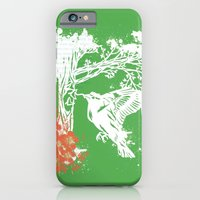 iPhone & iPod Case featuring Goldfinch Mother - Spring Explosion by Katy Betz