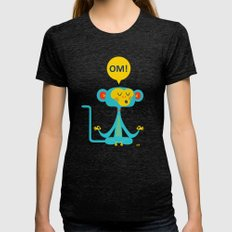 OM! Monkey Womens Fitted Tee Tri-Black SMALL