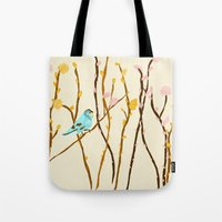 Pussywillow Landscape Tote Bag
