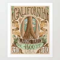California Vintage Postage Stamp Art Print
