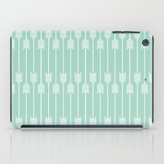 White Arrows on Mint iPad Case