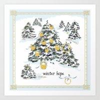 WINTER Hope Art Print