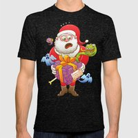 A Christmas Gift from Halloween Creepies to Santa Mens Fitted Tee Tri-Black SMALL