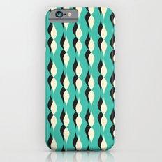 turquoise petal lines  iPhone 6 Slim Case