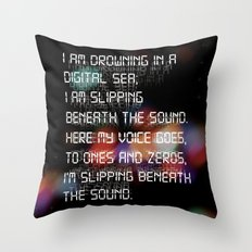 Drowning in the Digital Sea Throw Pillow