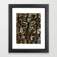 Swarm of the Butterflies Framed Art Print